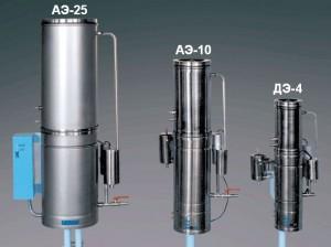 Сравнение размеров разных дистилляторов