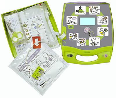 дефибриллятор AED Plus снутри