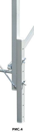 Пример конструкции конфигурации высоты массажного стола прикручиванием 2-ух совмещенных частей ножки